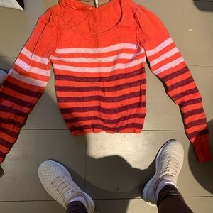 Free People orange striped sweater